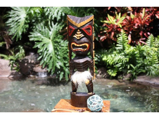 Hawaiian Tiki Mask-Statue 16""