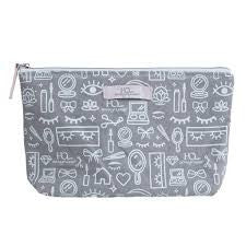 House of Lashes Grey Cosmetic Bag