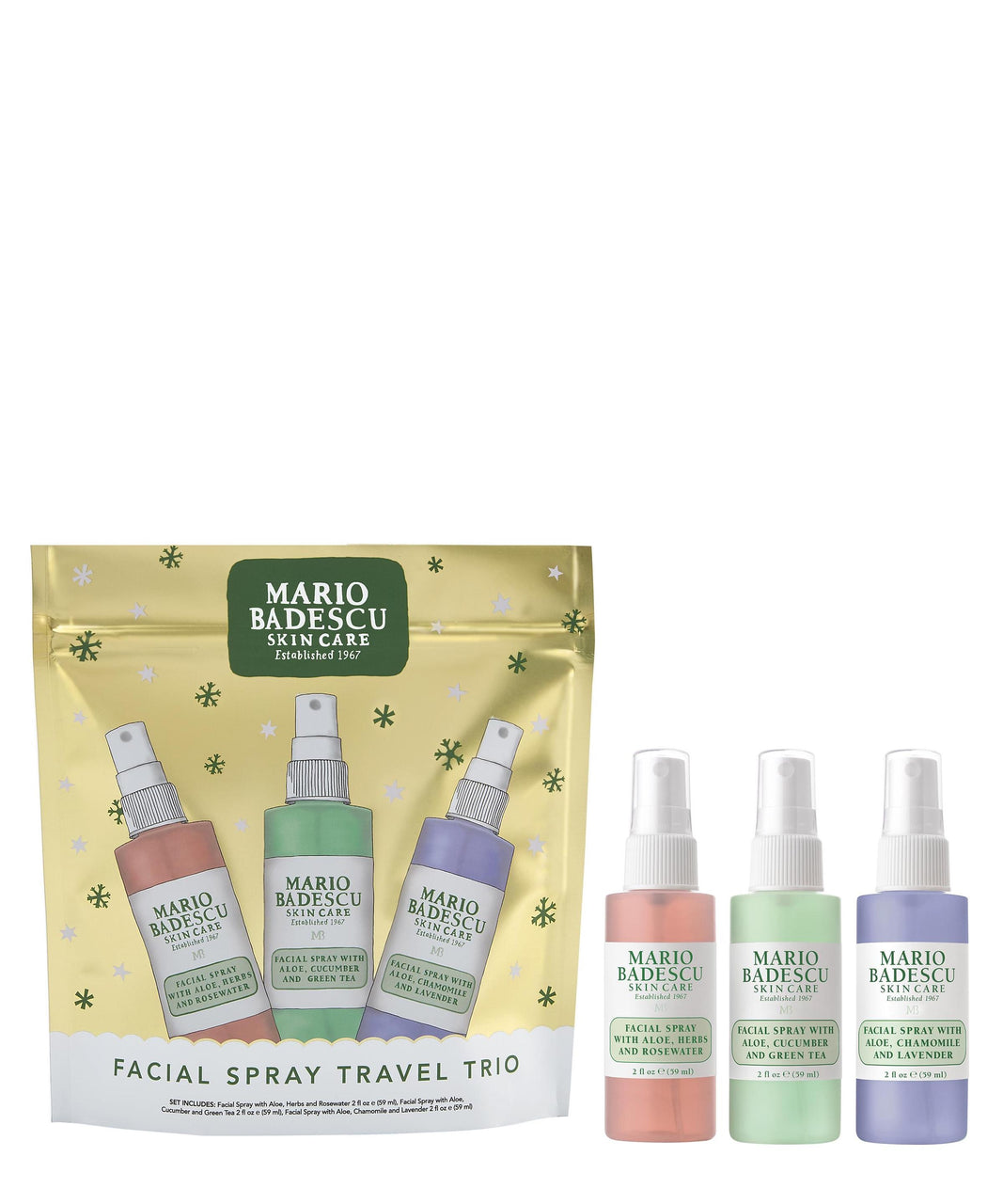 Mario Badescu - Facial Spray Trio Travel Edition