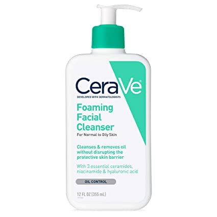 CeraVe - Foaming Facial Cleanser, For Normal to Oily Skin