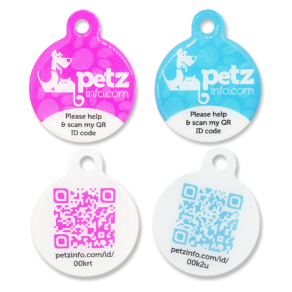 PetzInfo QR ID Tag - FOR LARGE PETS