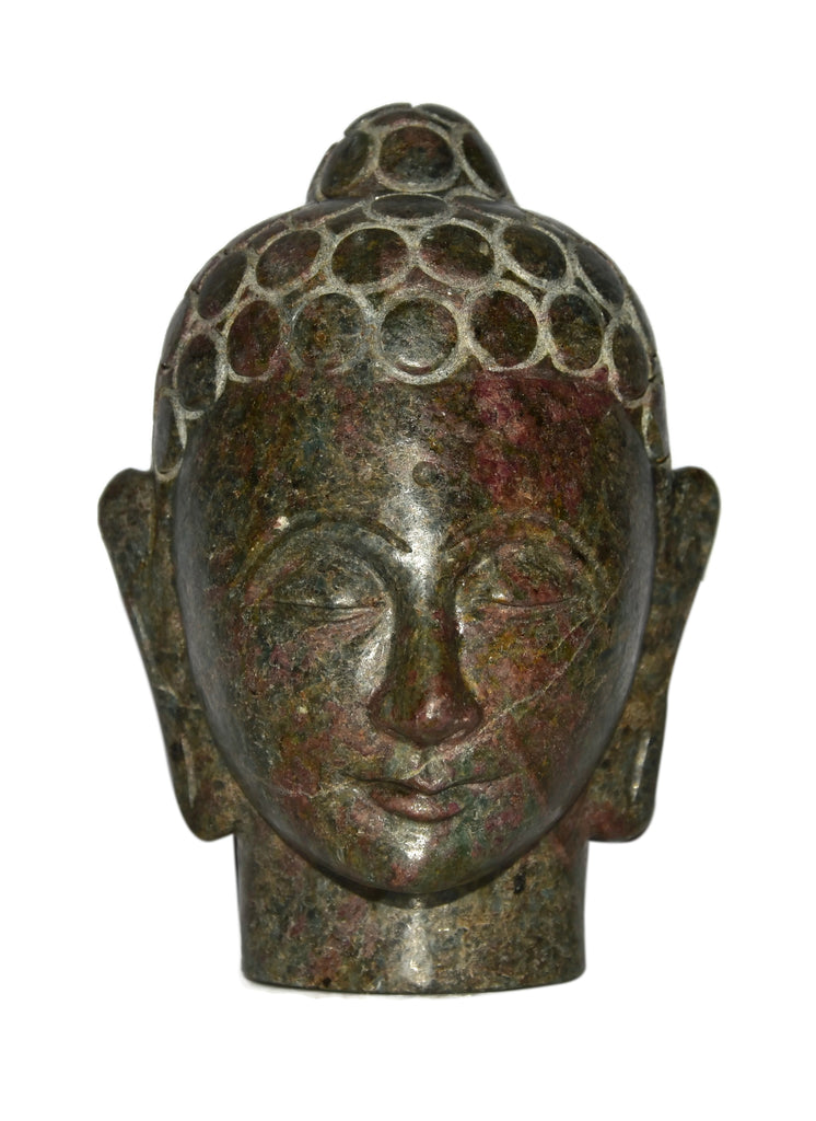 Ruby Zoisite Buddha Head