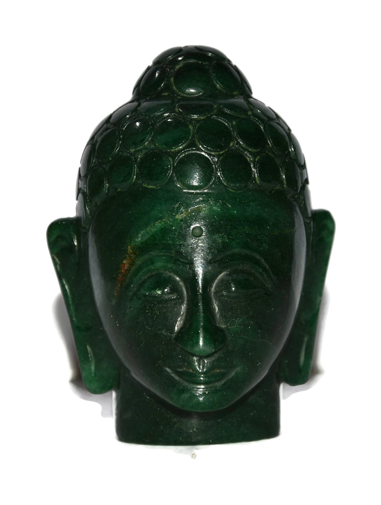 Dark Green Aventurine Buddha Head