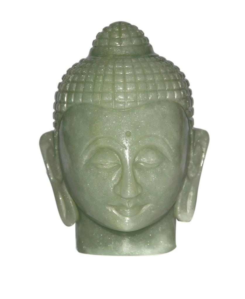 Green Aventurine Buddha Head