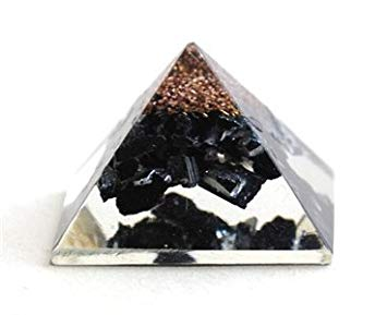 Black Tourmaline Orgone Pyramid 1 Inches