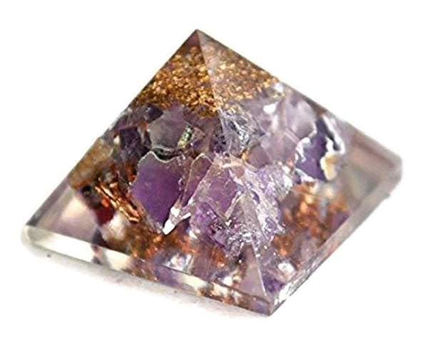 Amethyst Orgone Pyramid 1 Inches