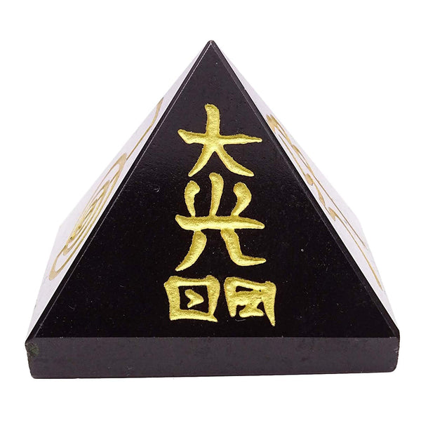 Black Tourmaline Reiki Pyramid 1 Inches