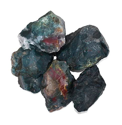 Blood Stone 5 Piece Raw Stone 2 Inches