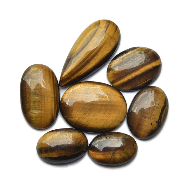 Tiger Eye 7 Piece Cabochon