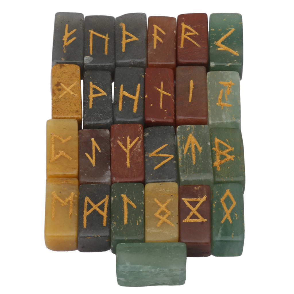 Mix Gemstone Square Runes