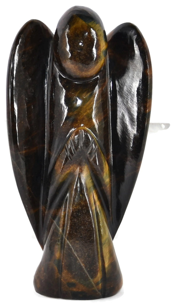 Tiger Eye Angle Figurine 4.5 Inches