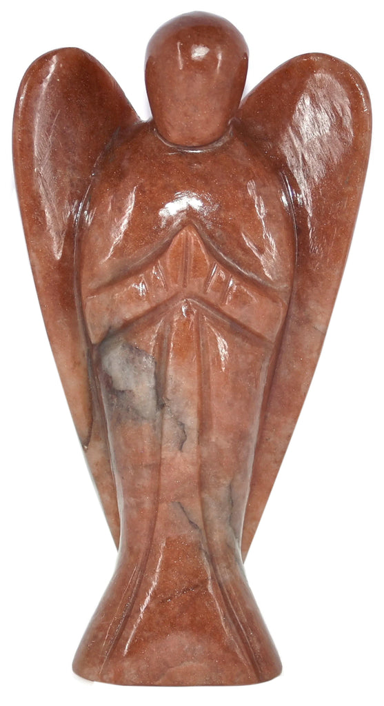 Red Jasper Angle Figurine 5.7 Inches