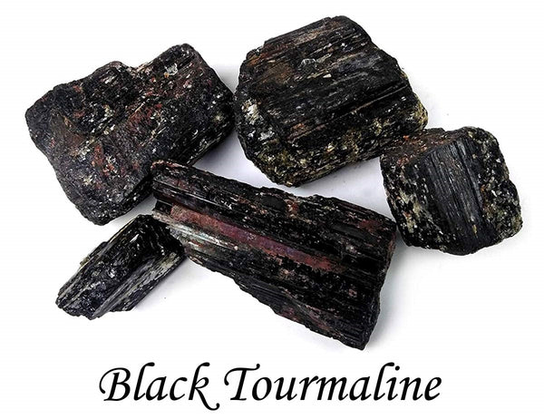 Black Tourmaline 3 Piece Raw Stone 2 Inches