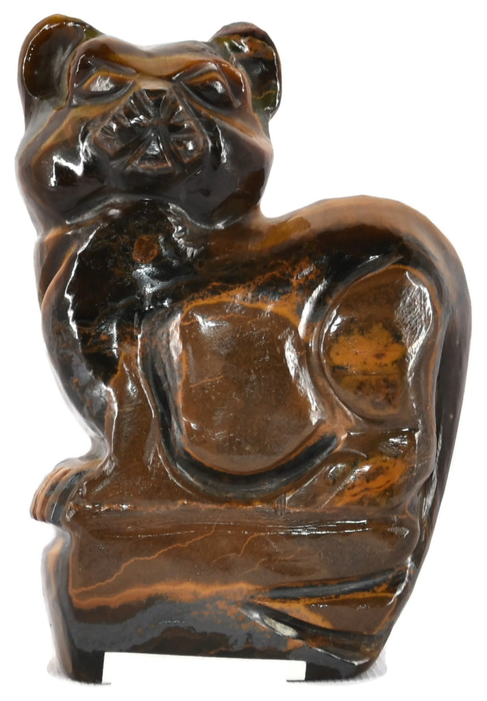 Tiger Eye Cat Figurine 3.5 Inches