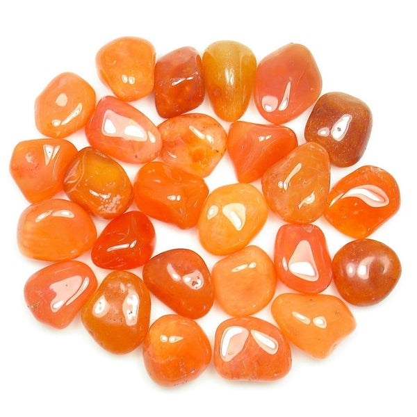 Carnelian Tumble Stone - Healing Stone, Energy Crystal, Healing Crystals, Gemstone Tumbles 10 Pieces