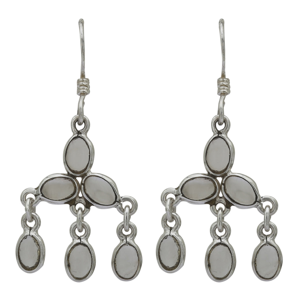 Rainbow Moonstone 925 Silver Earring