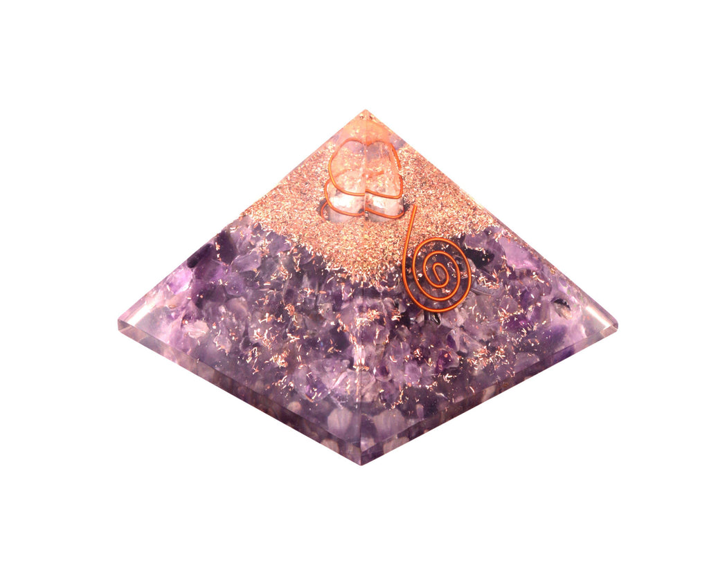 Amethyst Orgone Pyramid 2.5 Inches