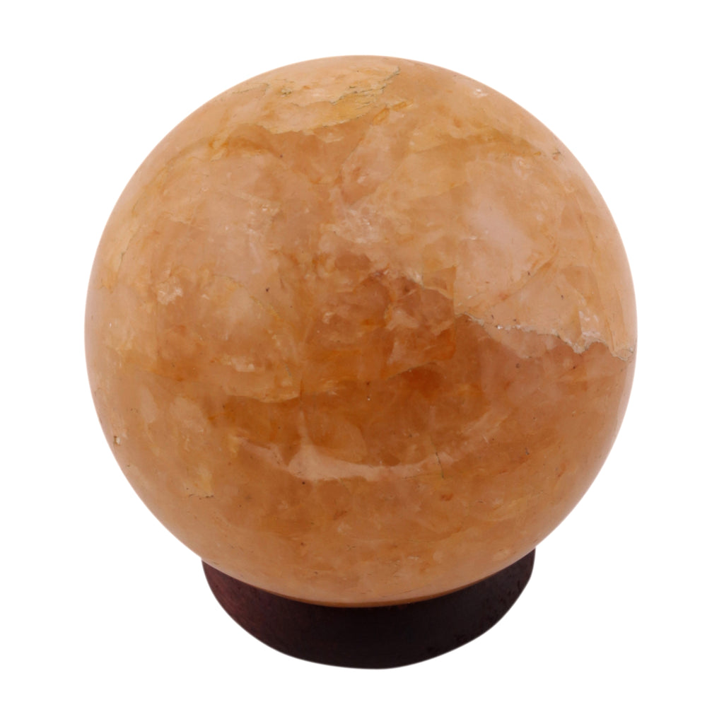 Healing Crystal Golden Quartz 50-60 mm Natural Gemstone Ball Reiki Aura Balancing Metaphysical Sphere