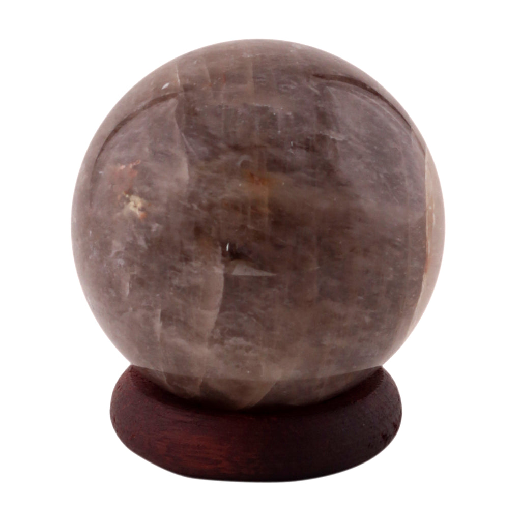 Smoky Quartz Crystal Sphere Ball Metaphysical Healing Mineral Chakra Aura Balance Stone 50-60 mm