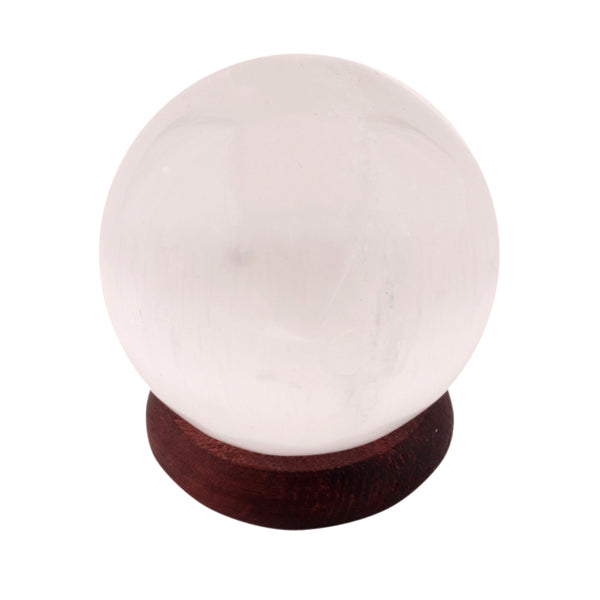 White Selenite Sphere 40-50 MM