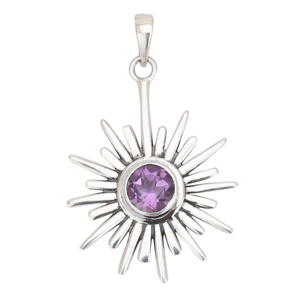 Amethyst 925 Sterling Silver Pendant