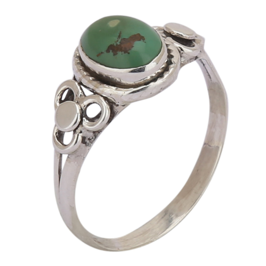 Green Turquoise 925 Silver Ring