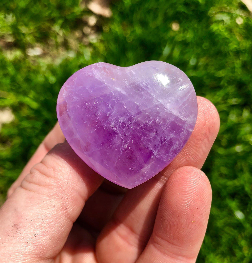 Amethyst Heart - amethyst crystal heart - amethyst geode - amethyst stone heart - healing crystals and stones - purple amethyst heart