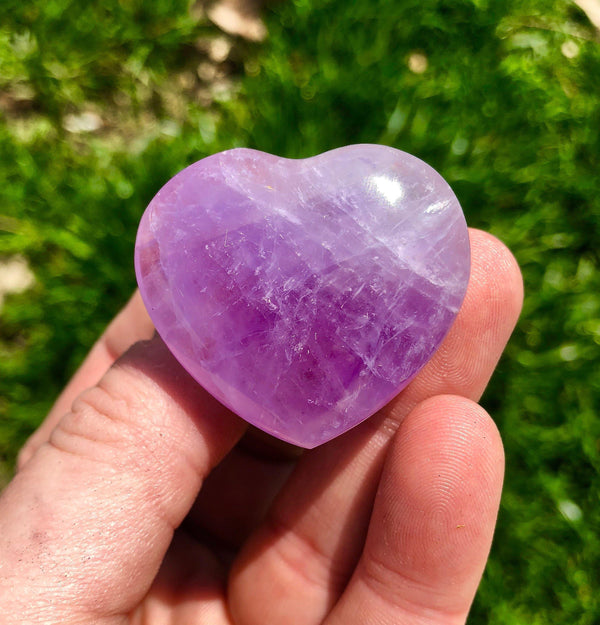 Amethyst Heart 1 inches