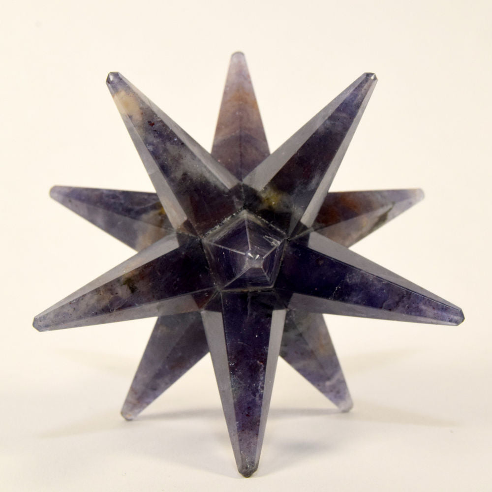 LARGE 12 Point Blue Aventurine Merkaba Stone Star Sacred Geometry Healing Chakra Crystal