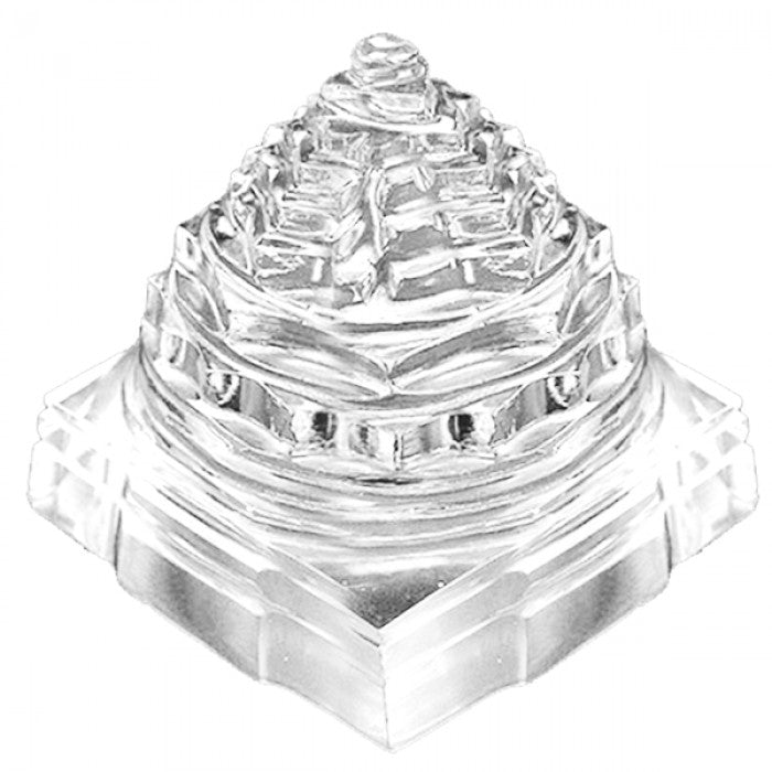 Crystal Quartz Shree Yantra 1 Inches