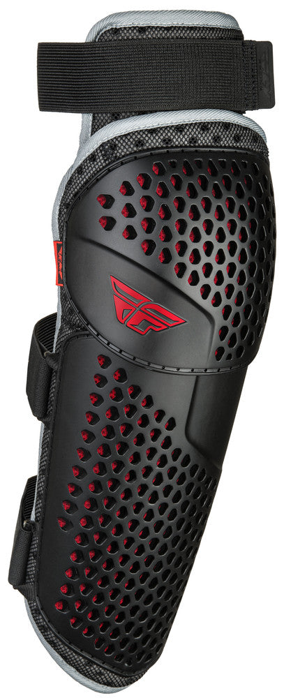 Fly Racing Barricade Flex  BMX Knee/Shin Guard - Youth Size - Black/Red