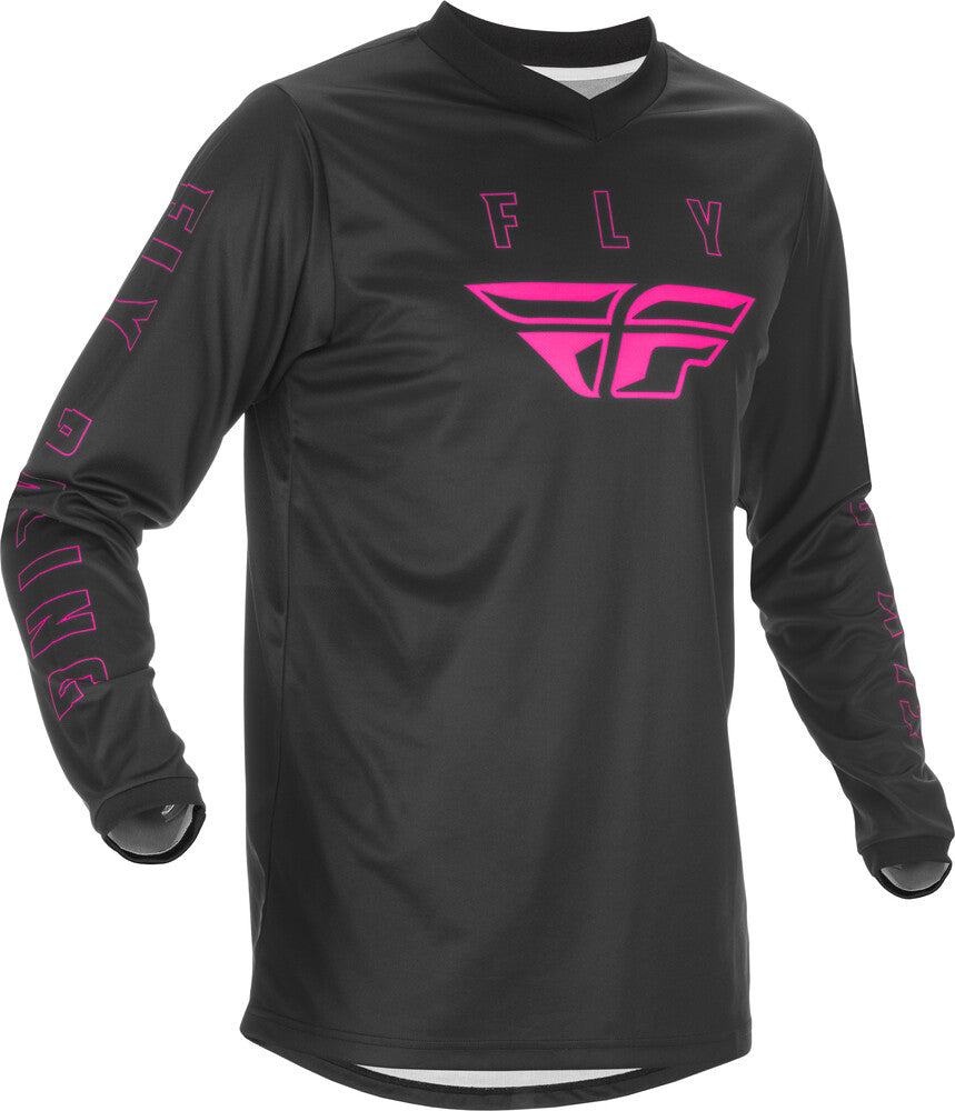 Fly F-16 BMX Jersey - Youth Large (YL) - Black & Pink