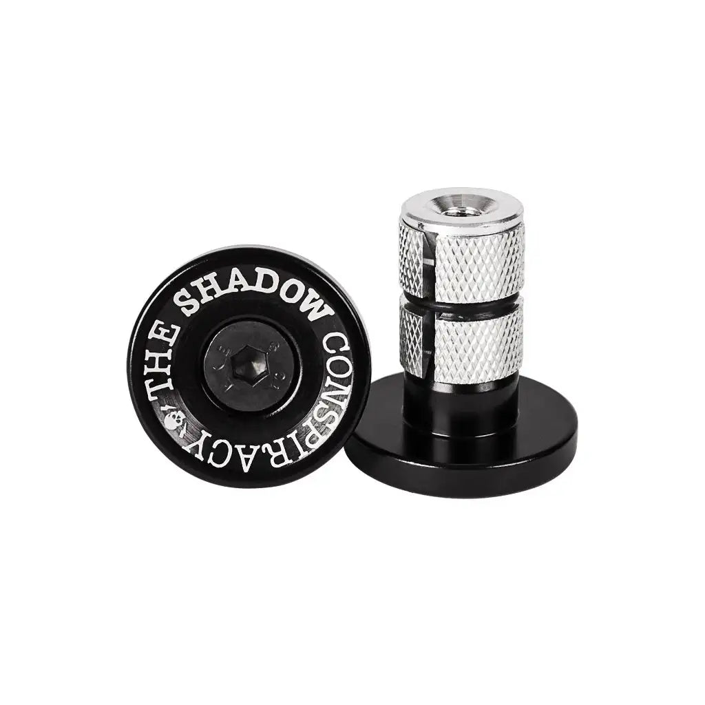 The Shadow Conspiracy Deadbolt Bar Ends - Aluminum BMX Bar Plugs - Black