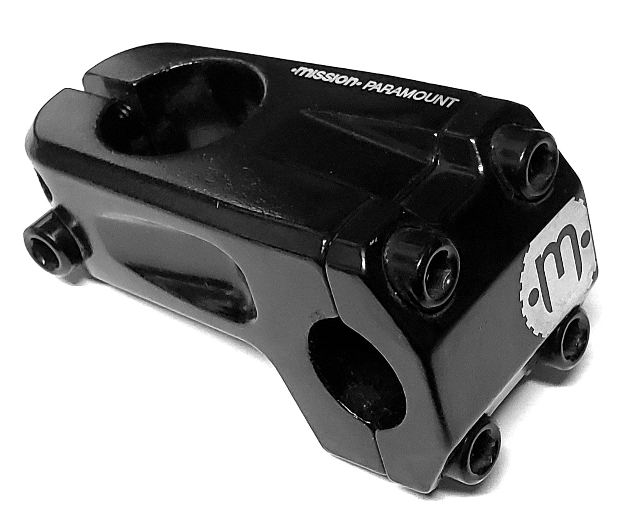 Mission Paramount BMX Threadless Stem - Black - 50mm - Front Load
