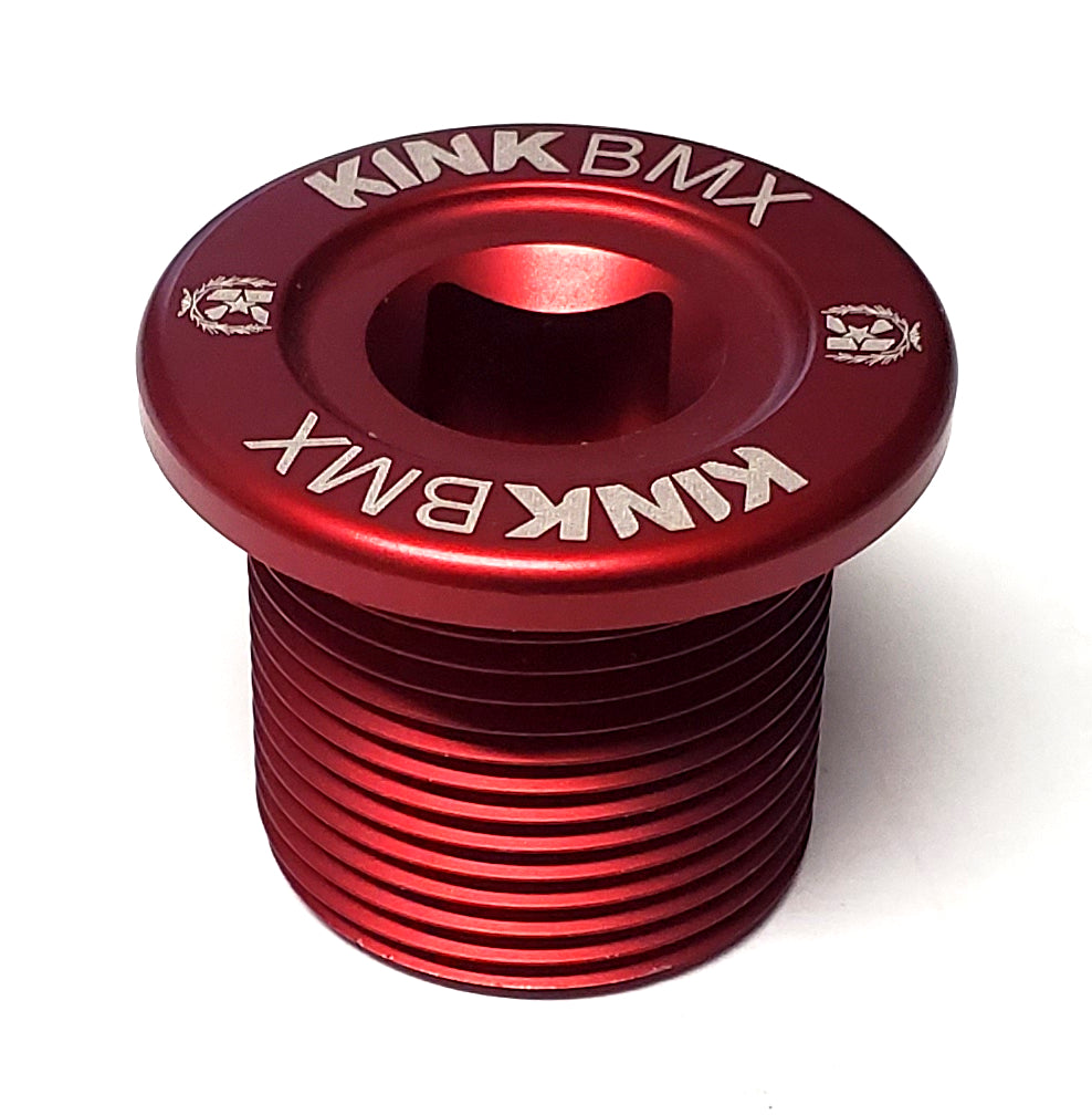 Kink BMX Alloy Top Cap - M24 x 1.5 Fork Compression Bolt - Red