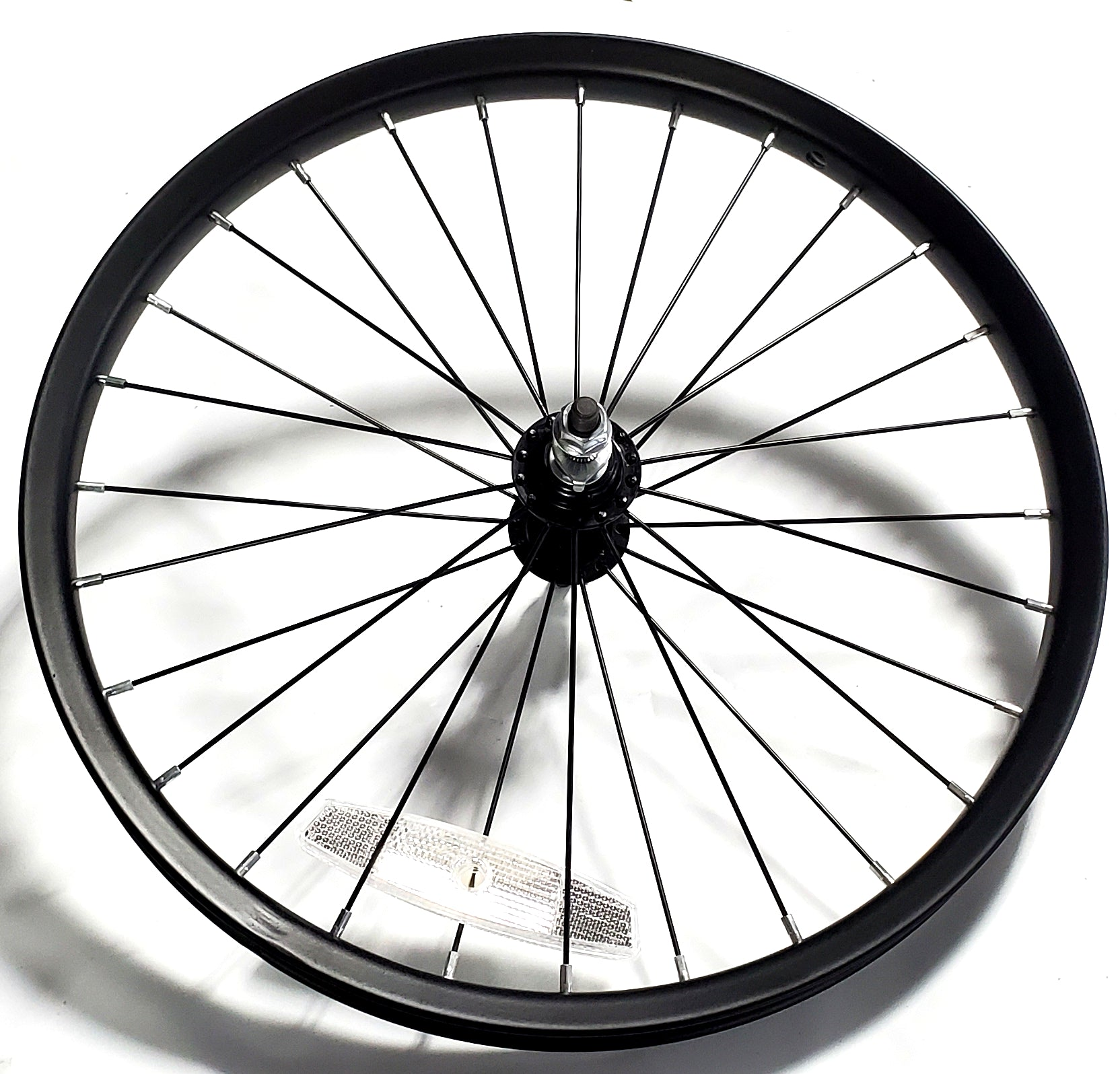 "18"" Steel BMX Front Wheel - 28H - 3/8"" axle - Kent Next Avigo OEM - Black"