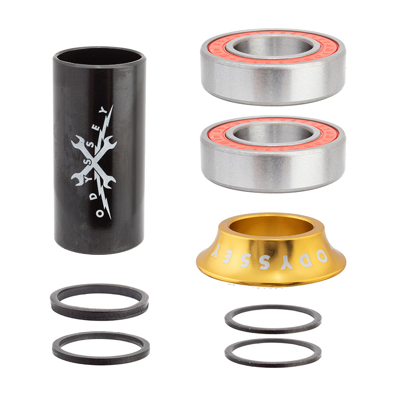 Odyssey 22mm Mid BMX Bottom Bracket Set - Anodized Gold