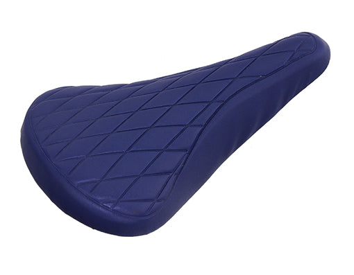 Quilted BMX / Road Retro Railed Seat - Blue