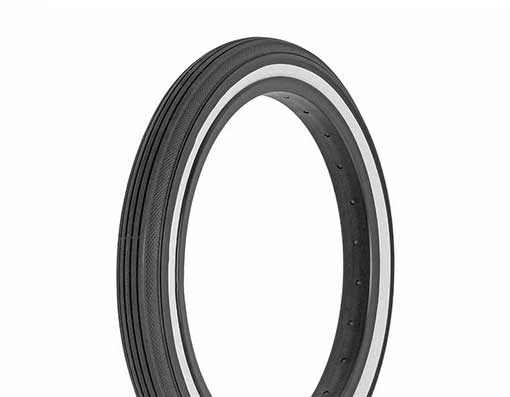16x1-3/4 Superior Style - Schwinn S-7 Bicycle Tire (47-317) - Black Whitewall