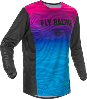 Fly Kinetic Special Edition BMX Jersey - Sz Adult Small (S) - Black/Blue/Pink