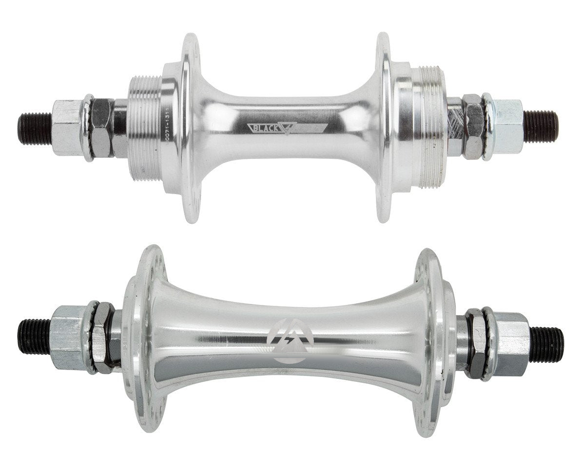 "BlackOps Sealed BMX Flip/Flop Freewheel Hubset - 36h - 3/8"" axles - Silver"
