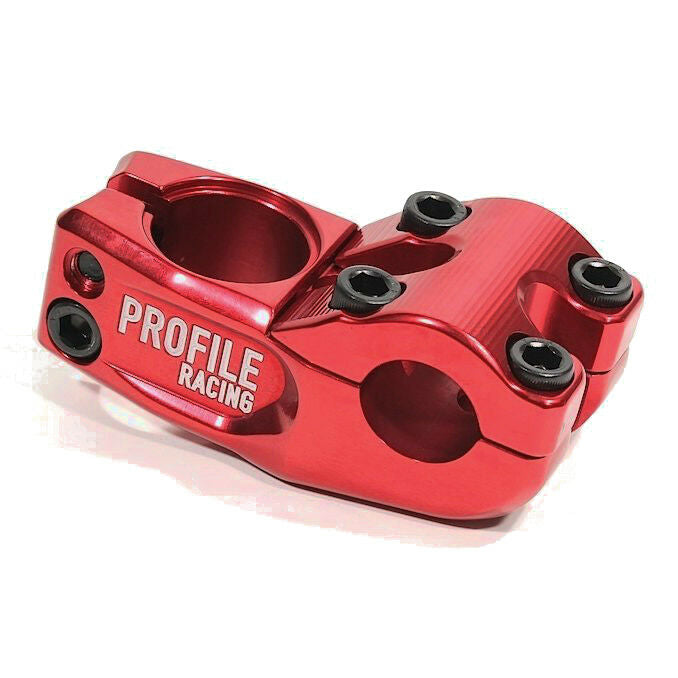 "Profile Mulville ""Push"" BMX Threadless Stem - 48mm - Red - USA Made"