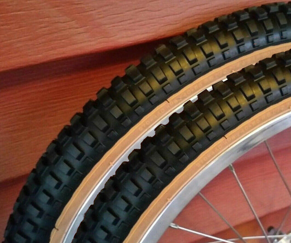 "CST Freestyle Black with Gumwall Sides BMX Tyres 20/"" x 1.75/"" Sold In Pairs"