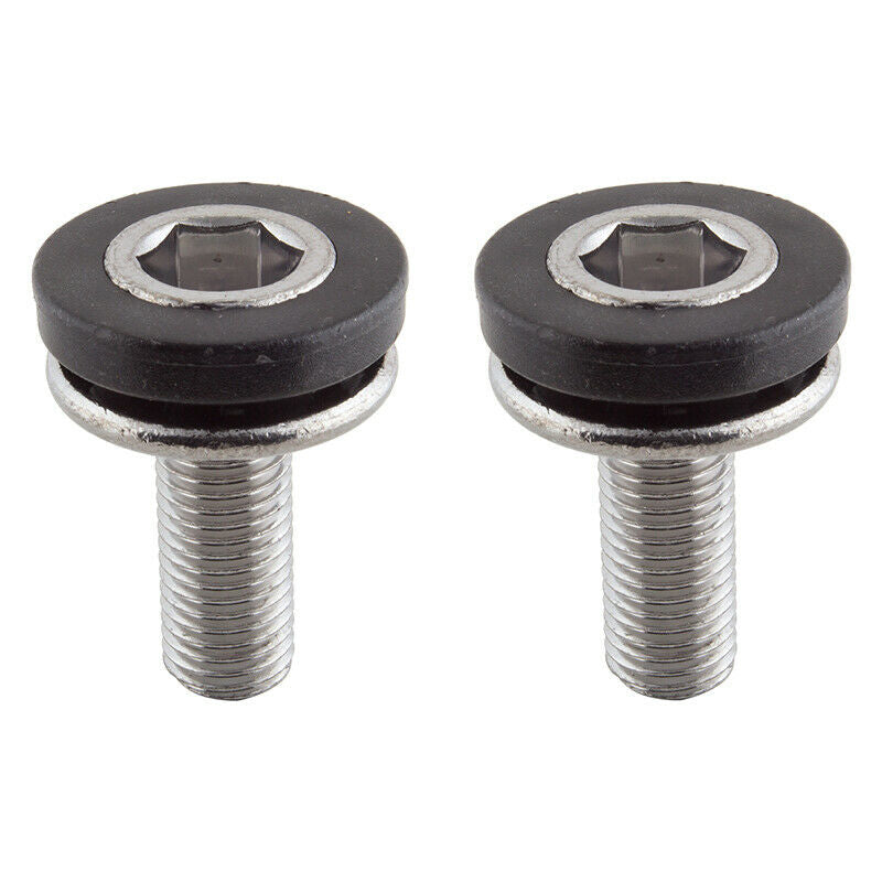 M8x1.0 Crank X-Long Spindle Bolts - fits most square taper cranks - Silver