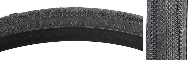 18x1 Vee Rubber Speedster Folding BMX tire - 110psi - Black