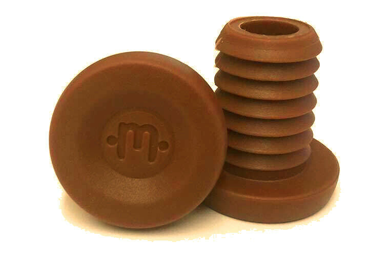 Mission Phase Bar End Plugs - Brown