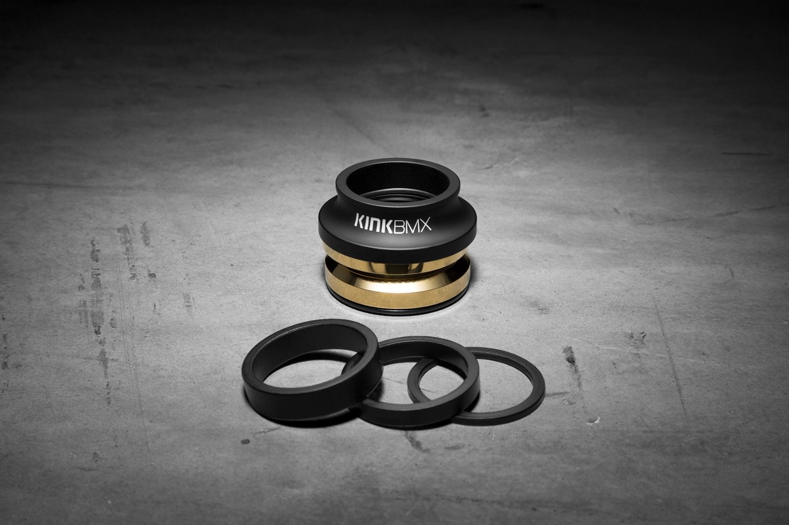 "Kink BMX Integrated II Ti-Ceramic Headset - 1 1/8"" - Matte Black"