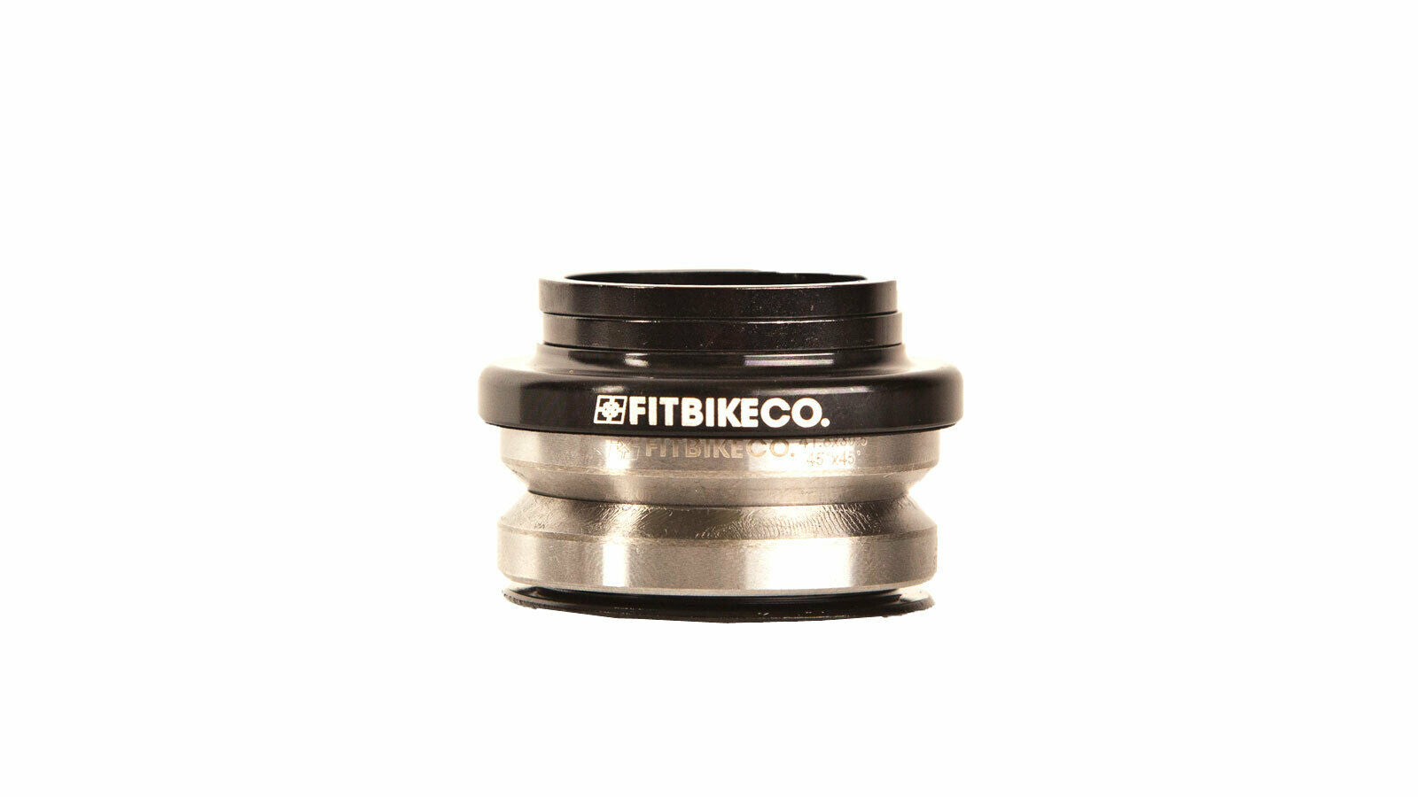 "Fit BMX 1 1/8"" Integrated BMX Headset for 45/45 - Black"
