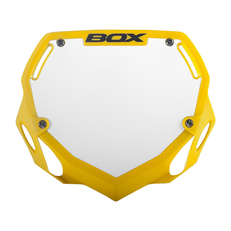 BOX TWO BMX NUMBER PLATE PRO WHITE