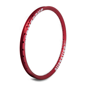 "20"" (406mm) Alienation Mischief G69 TSC Front BMX Rim - Aluminum - Double Wall - 36h - Red"
